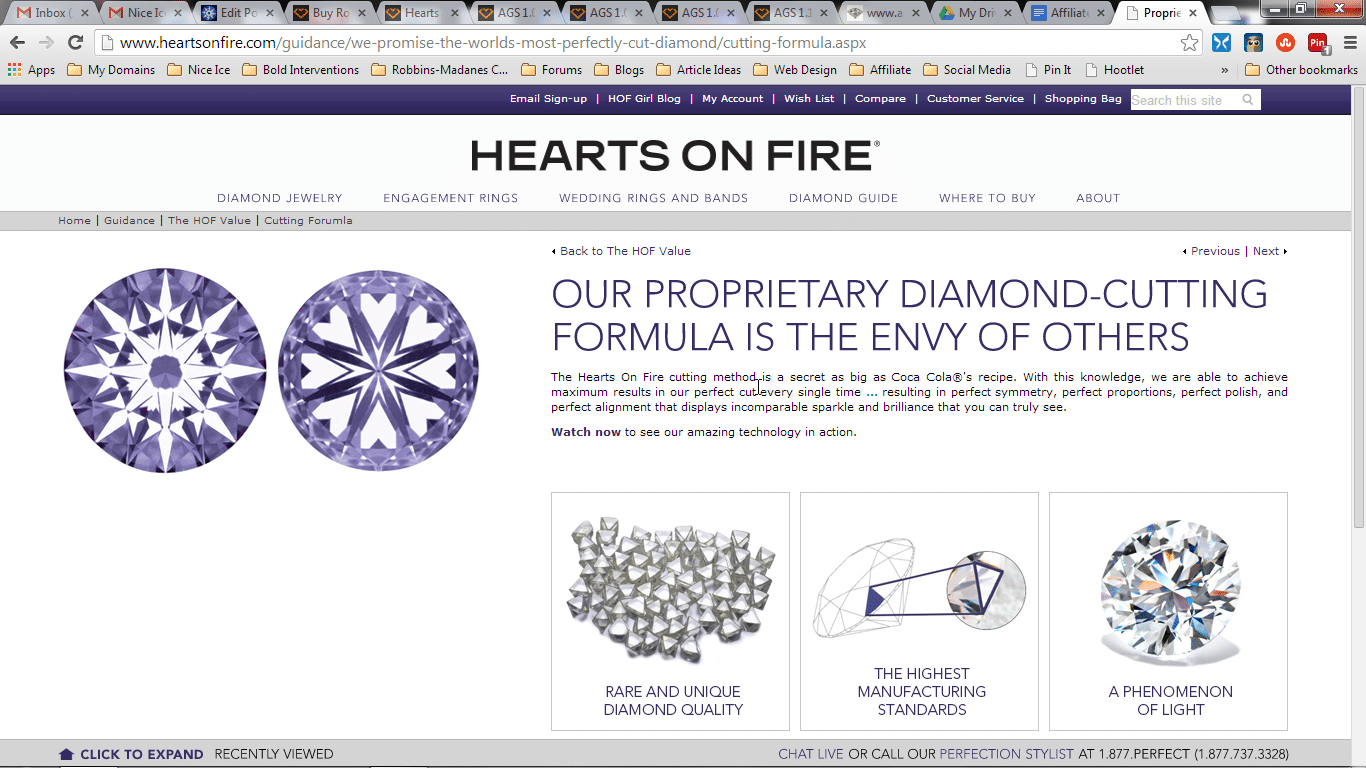 Hearts on Fire diamond reviews, are they actually perfectly cut