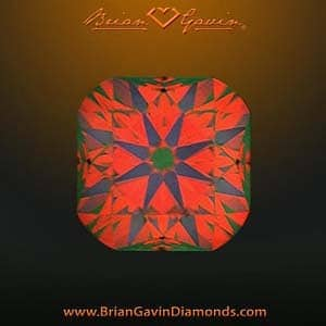 How to interpret the colors of an ASET image, Brian Gavin Signature Cushion, AGSL 104066516010