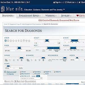 Blue Nile Diamond Search.