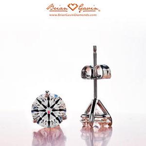 1.821 carats t.w. diamond stud earrings from Brian Gavin, G-color, VS-1 clarity