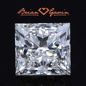 Princess cut diamond, Brian Gavin Signature, AGS 104086010001