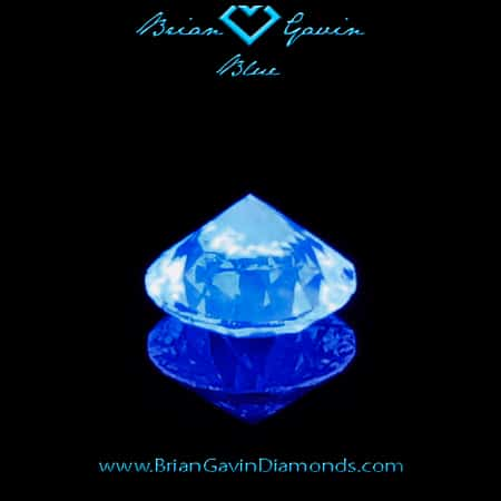 Best diamond engagement ring, Brian Gavin blue fluorescence, 104063998006