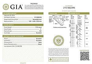 Blue Nile round diamond reviews, GIA 2151882398