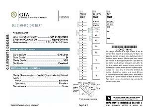 Blue Nile round diamond reviews, GIA 2126427358