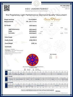 Brian Gavin Signature Round Diamond Reviews, AGSL 104061350023