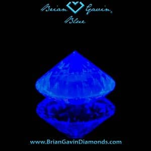 Effect of medium blue fluorescence in K color diamond, Brian Gavin Signature round AGSL 104067041010