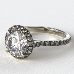 Halo style diamond engagement ring from James Allen