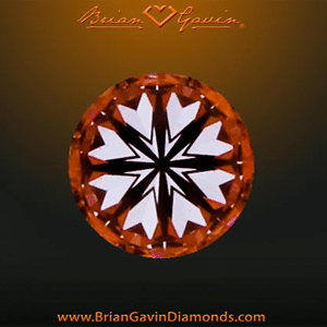 Hearts pattern exhibited by Brian Gavin Signature Diamond, AGSL 104067109053
