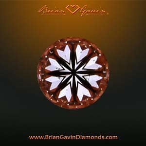 Hearts pattern within Brian Gavin Diamond produced by superior optical symmetry, CAGS_104064814003