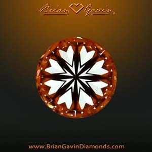 Superior optical symmetry produces hearts and arrows pattern within this Brian Gavin Signature Diamond AGS_104064191007