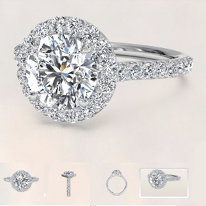Ritani diamond reviews, French Halo style engagement ring