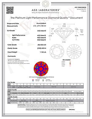 Ritani diamond review, Ritani Reserve Ideal AGSL 104062544028 D-G9QH5J