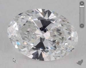 Best proportions for oval cut diamonds, James Allen oval diamond reviews, GIA 1149713492