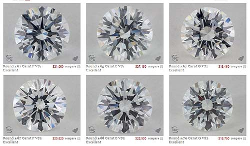 Examples of Diamond Contrast Brilliance.