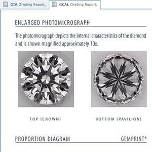 Effect of 80 percent lower girdle halves measurements, Blue Nile round diamond reviews, GIA 1169002963