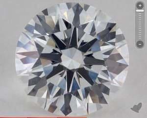 Examples of judging static contrast in diamonds, James Allen, GIA 1152669384
