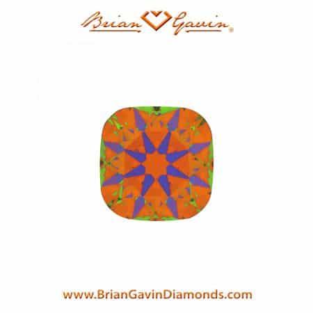 ASET for Black by Brian Gavin Cushion cut diamond