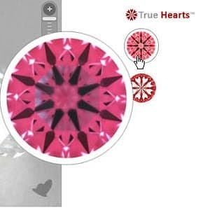 James Allen True Hearts diamond reviews, interpreting ideal scope images, AGSL 104059904019