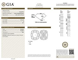 Ritani Cushion Cut Diamond Reviews, GIA 2166833902