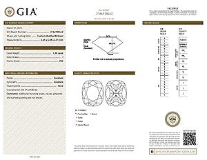 Ritani Cushion Cut Diamond Reviews, GIA 2166938462