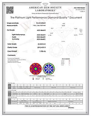 Whiteflash Expert Selection Diamond Reviews, SKU 3016698, AGSL 104067466021