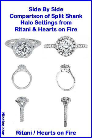 Hearts on Fire Transcend vs. Ritani Halo Settings.