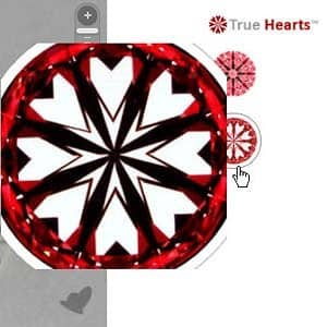 James Allen True Hearts diamond review, AGS 104054433022
