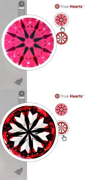 Why Ideal Scope image is not enough, James Allen True Hearts diamonds reviews, AGSL 01040395030001
