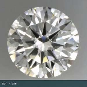 Judging static contrast and optical symmetry in Ritani Reserve Ideal cut diamond, AGSL 104062544050