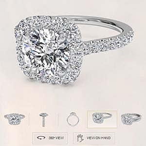 Ritani French Halo ring review, what is the quality of the diamonds