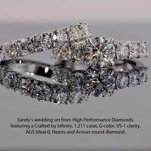 Show me your Crafted by Infinity diamond engagement ring