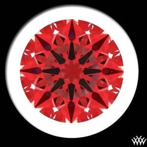 Whiteflash A Cut Above diamond reviews, Ideal Scope image, AGS 104069951051
