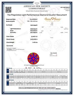 Brian Gavin Signature hearts and arrows diamond reviews, AGSL 104072303019