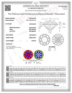 High Performance Crafted by Infinity diamonds reviews, AGSL 104072339002