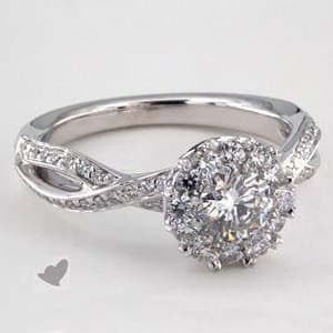 James Allen Royal Halo cross over diamond engagement ring reviews