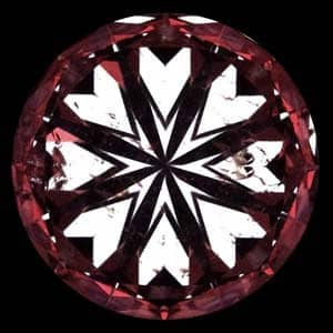What are black or dark spots in hearts and arrows pattern, High Performance Diamonds Reviews, AGSL 104068111009
