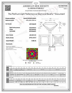 Best proportions tutorial princess cut diamonds, James Allen, AGS 104067101006