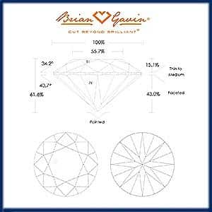 Best proportions for round brilliant cut diamonds, Brian Gavin, AGSL 104064296050