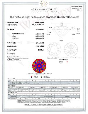 Brian Gavin Signature round diamond reviews, AGSL 104054189059