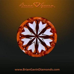 Hearts and arrows grading tutorial, Brian Gavin Signature diamond, AGSL 104064296050