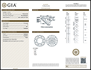 Ritani round diamond reviews, GIA 1189421698, SKU D-9MMF61