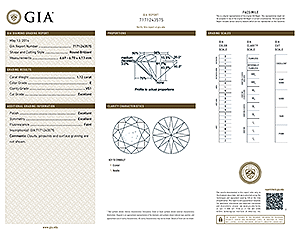 Ritani round diamond reviews, GIA 7171243575