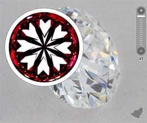 James Allen True Hearts diamond reviews, AGSL 104045045034, irregular hearts pattern