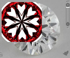 James Allen True Hearts diamond reviews, AGSL 104054433022, hearts pattern