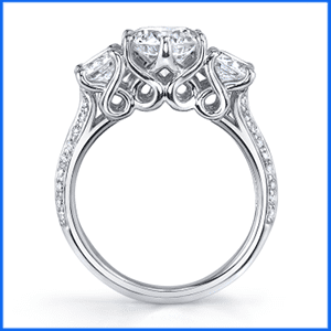 D. Vatche Swan 3-stone engagement ring.