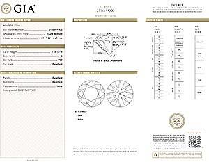 Blue Nile Signature round diamond reviews, GIA 2156899300