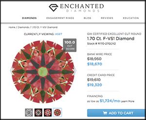 Enchanted Diamonds reviews, GIA 2196307183