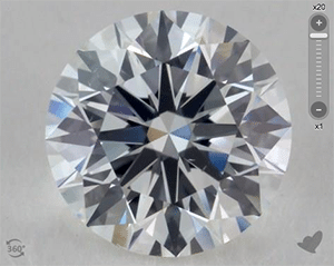 James Allen Round Ideal Cut Dianond Reviews, AGS 104077293012, very nice static contrast