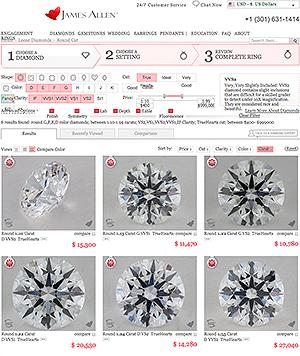 James Allen True Hearts diamond reviews, picking the best James Allen True Hearts diamond