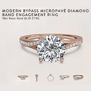 Ritani Reviews Modern Byp Diamond Engagement Ring 18kt Rose Gold Plus 60 Review
